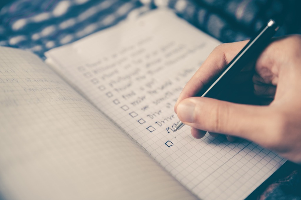 checklist priority